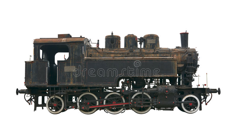 Entalhe da locomotiva de vapor foto de stock