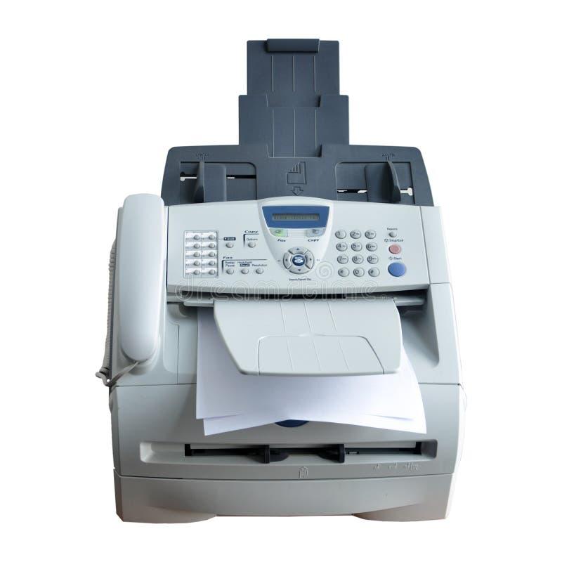 Entalhe da máquina de fax isolado imagens de stock royalty free
