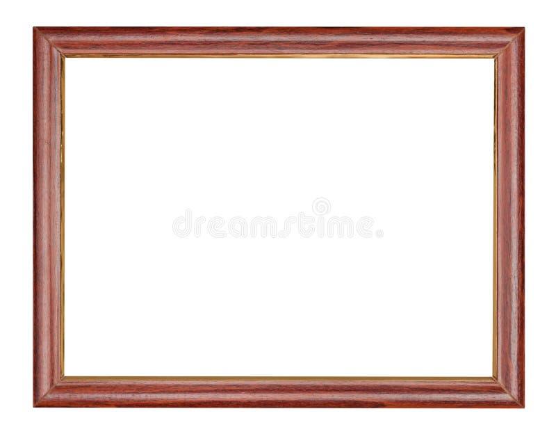 Entalhe de madeira marrom vazio da moldura para retrato imagens de stock