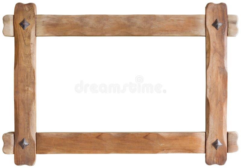 Entalhe do quadro de madeira fotografia de stock