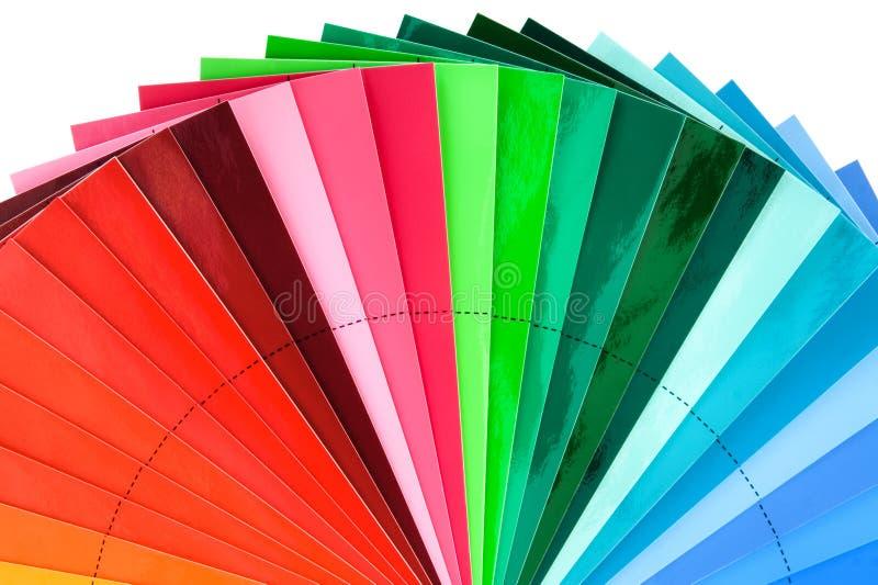 Entalhe do ventilador do Swatch da cor fotografia de stock