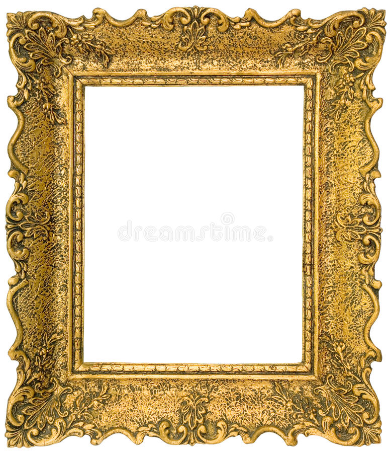 Entalhe Dourado Da Moldura Para Retrato Imagem de Stock - Imagem de  intricado, ornamental: 29581759