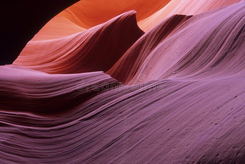 Entalhe a garganta #1, uma mais baixa garganta do antílope, o Arizona fotografia de stock