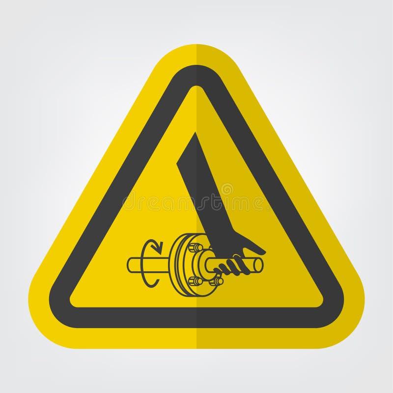 Entanglement Of Hand Rotating Shaft Symbol Sign Isolate On White Background,Vector Illustration EPS.10. Above, accident, area, belt, blade, chain, cog vector illustration
