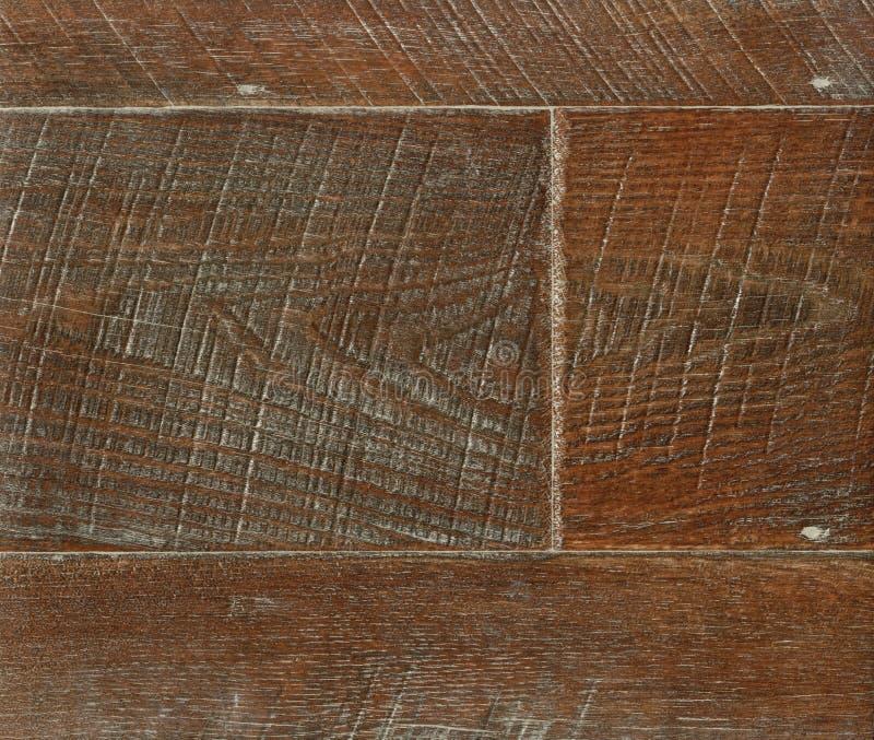 Entarimado de madera en tonos calientes, primer Textura de madera oscura Entarimado de madera fotos de archivo libres de regalías