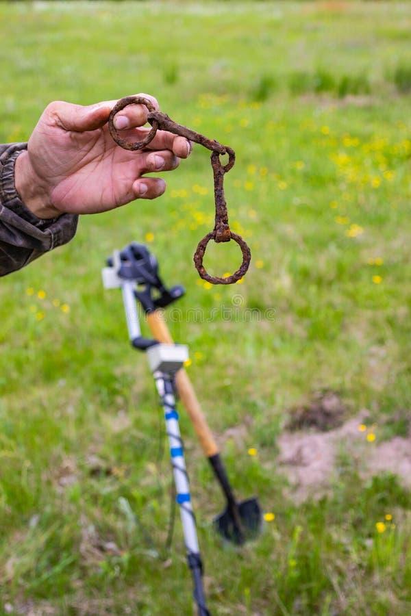 Entdeckungen eines Arch?ologen gefunden und vom Boden entfernt lizenzfreies stockfoto
