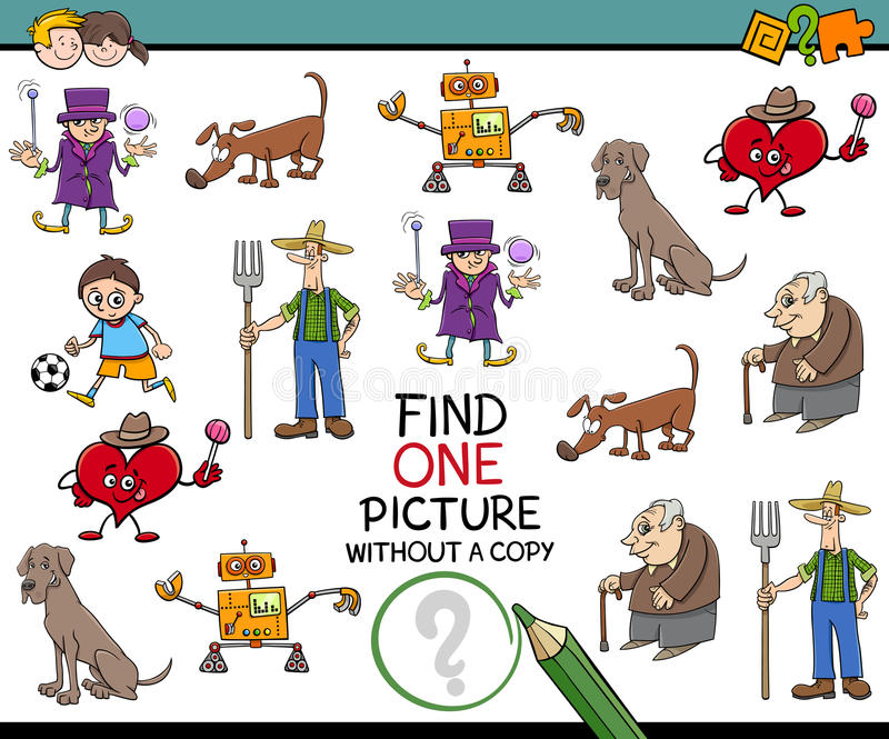 Entdeckungsbildtätigkeit für Kinder lizenzfreie abbildung