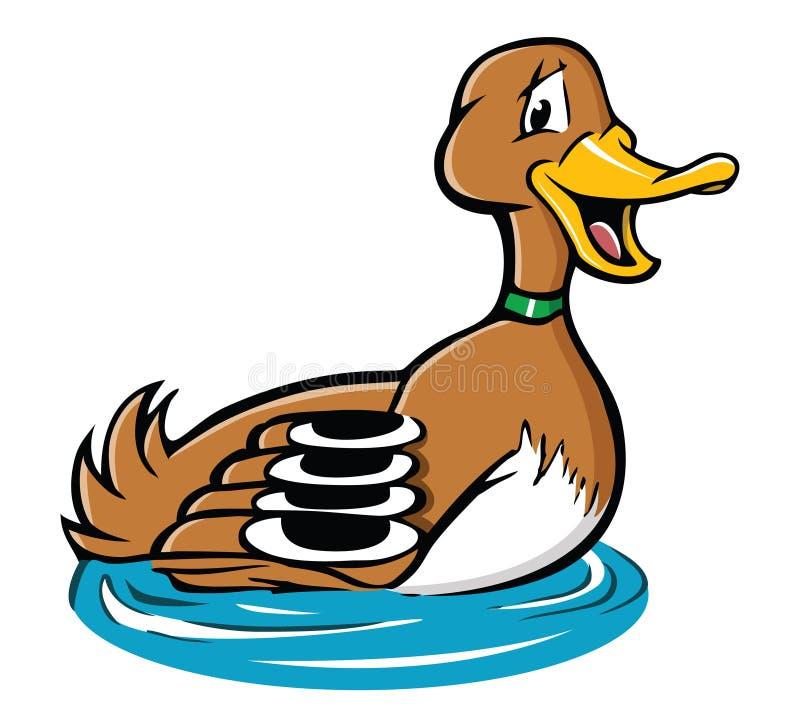 Ente auf einem Teich lizenzfreie abbildung