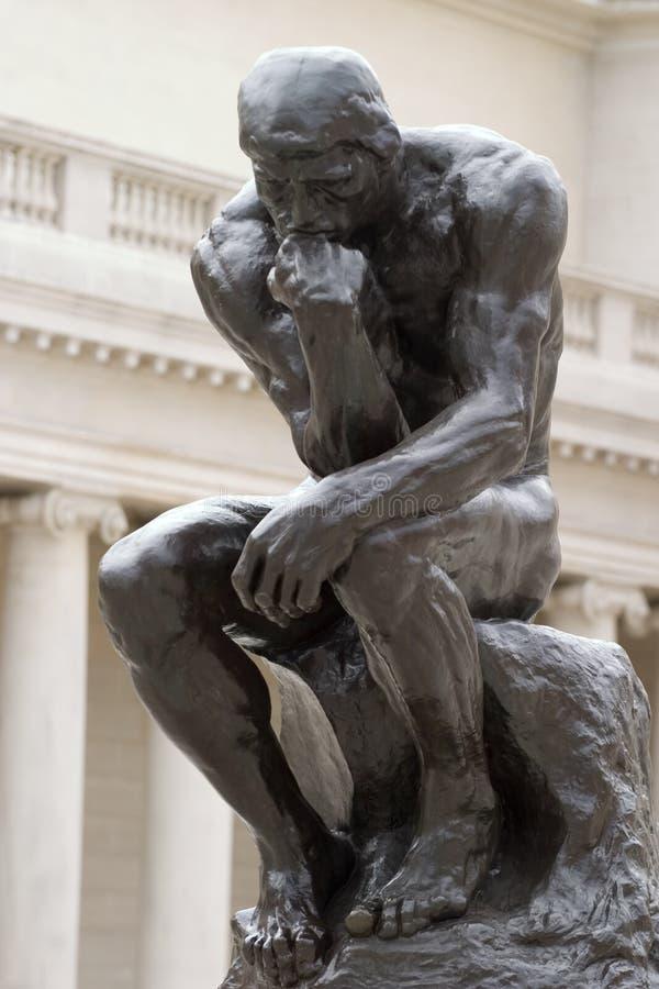 Ente completo del pensatore del Rodin fotografia stock libera da diritti