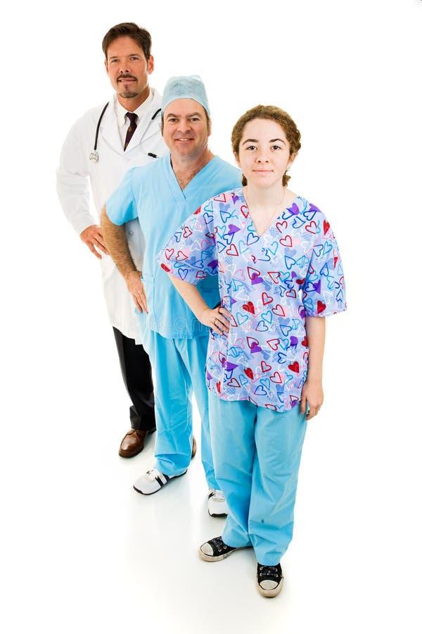 Ente completo del personale medico immagini stock libere da diritti