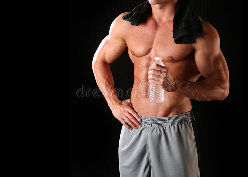 Ente maschio atletico fotografia stock