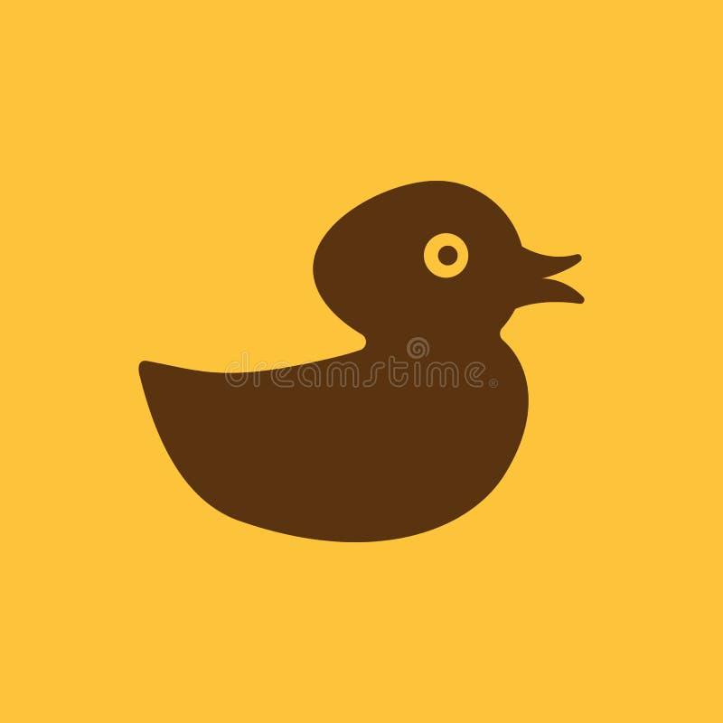 Entenikone Entwurf Spielzeug und Tier, Entensymbol web graphik ai app zeichen nachricht flach bild zeichen ENV Kunst stock abbildung