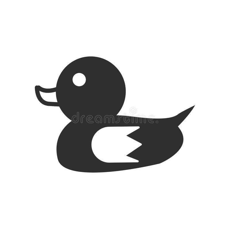 Entenikonenvektorzeichen und -symbol lokalisiert auf weißem Hintergrund, Entenlogokonzept stock abbildung