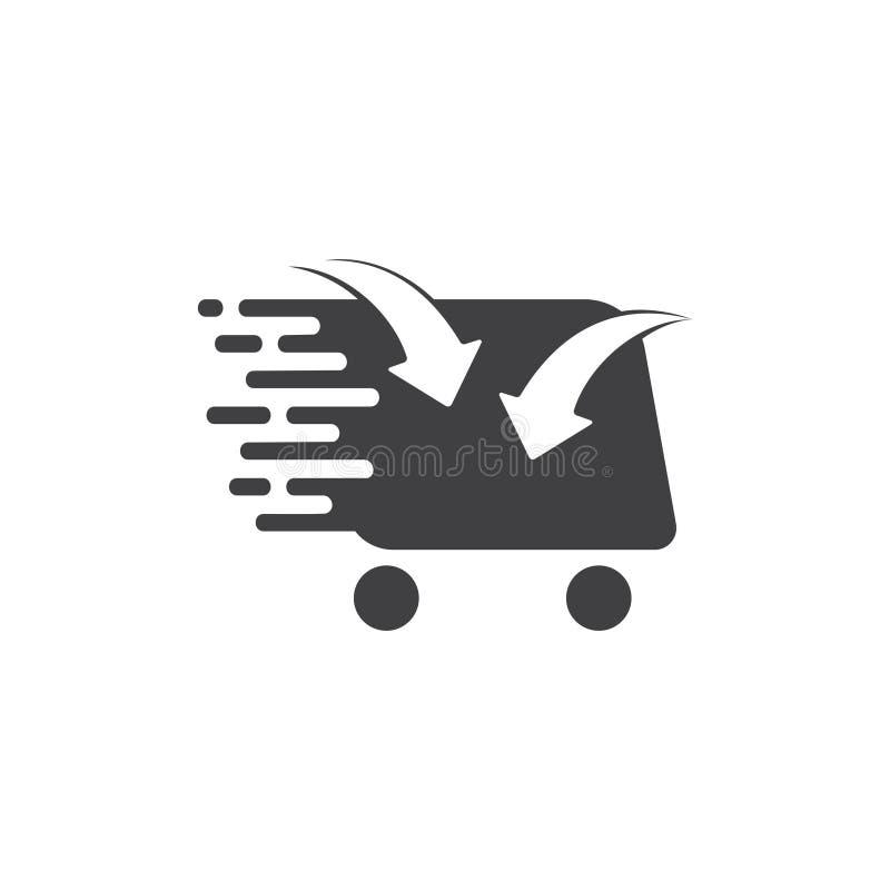 Enter arrow shopping chart symbol vector royalty free illustration