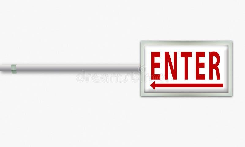 Enter board royalty free illustration