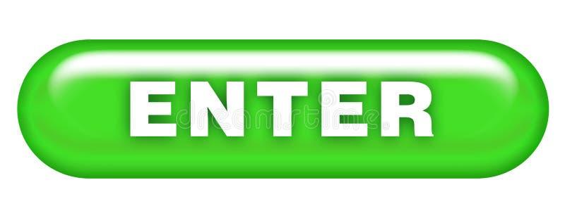 Enter Button. Illustration, data. Web design icon symbol stock illustration