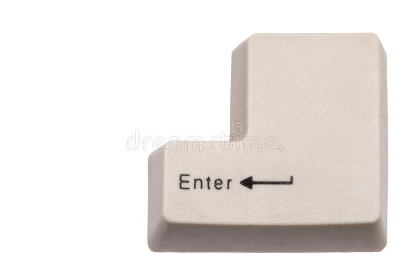 Enter Key. With an arrow, isolated on white royalty free stock photo