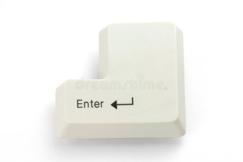 Enter key. With white background