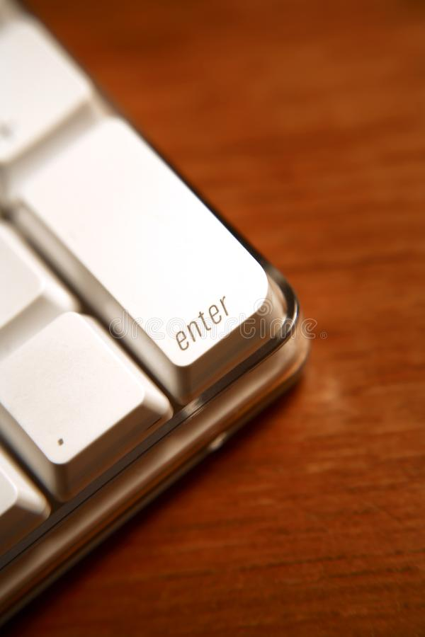 Enter key on computer. Computer keyboard `Enter` key taken with macro and close up lenses stock images