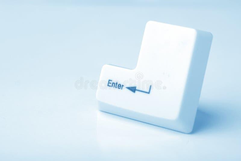 Enter keys. Close up of enter keys stock photos