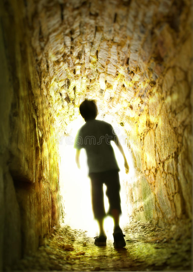 Enter the Light royalty free stock photo