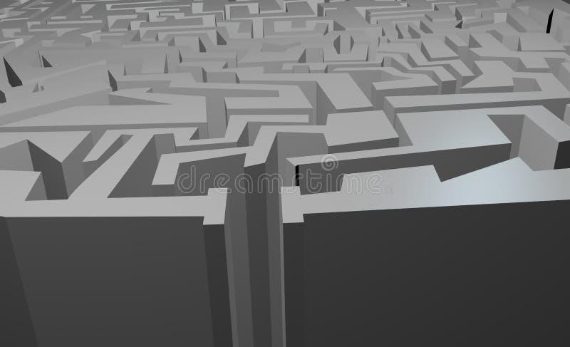 Download Enter maze stock illustration. Image of background, artistic - 41181587