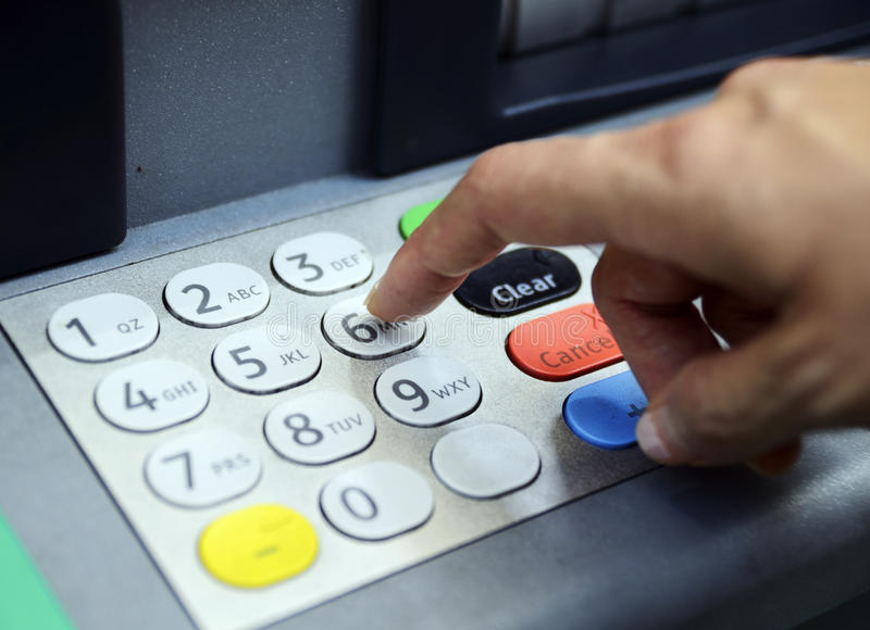 Download Enter Password In The ATM Machine Stock Photo - Image: 36353340