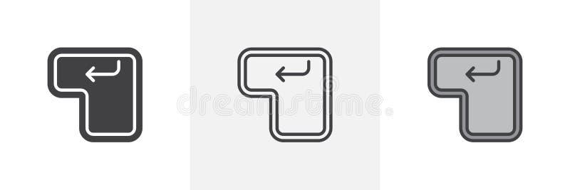 ENTER-Taste Knopfikone stock abbildung
