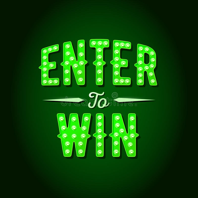 Free Enter To Win Vector Sign Royalty Free Stock Photography - 84359457