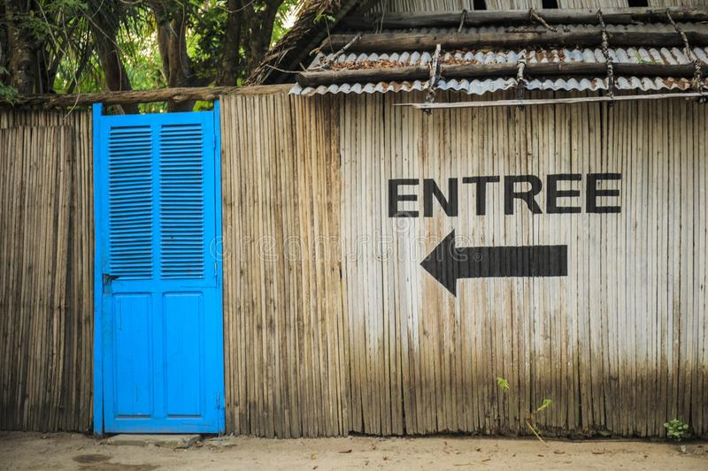 Enter this way stock images