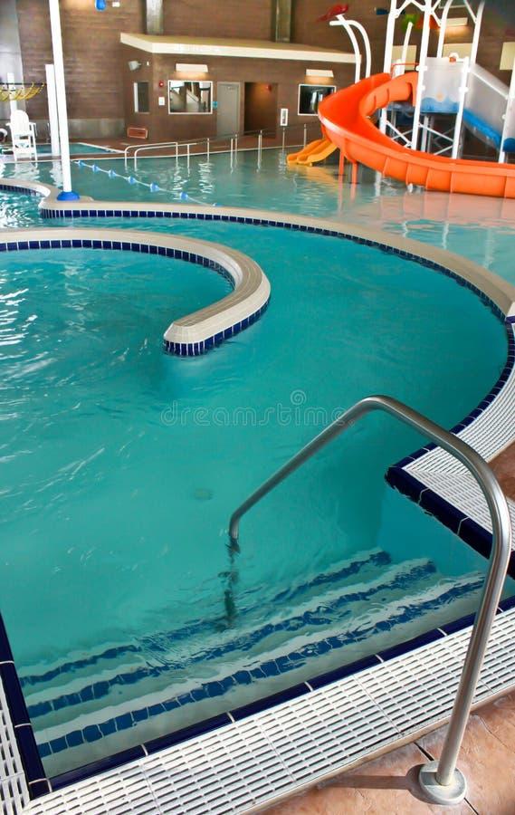 Enterance de piscine image libre de droits