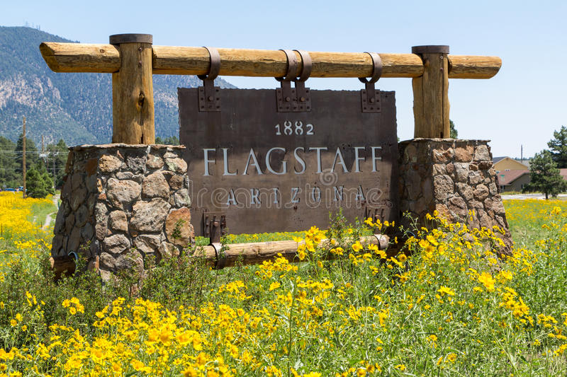 Entering sign Flagstaff. Entering sign in Flagstaff Arizona United States royalty free stock photo