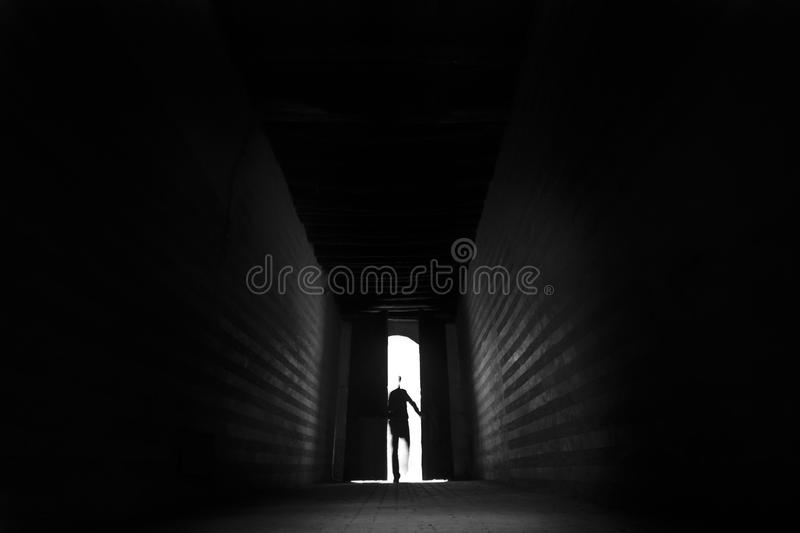 Entering the unknown royalty free stock photography