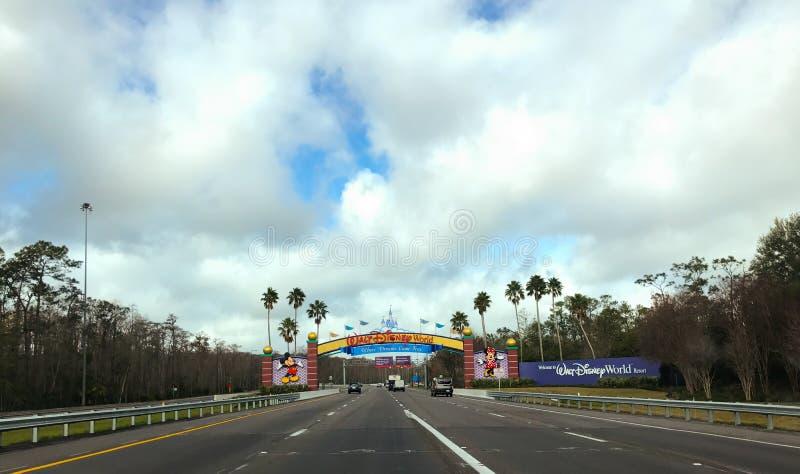 Entering Walt Disney World. royalty free stock photos