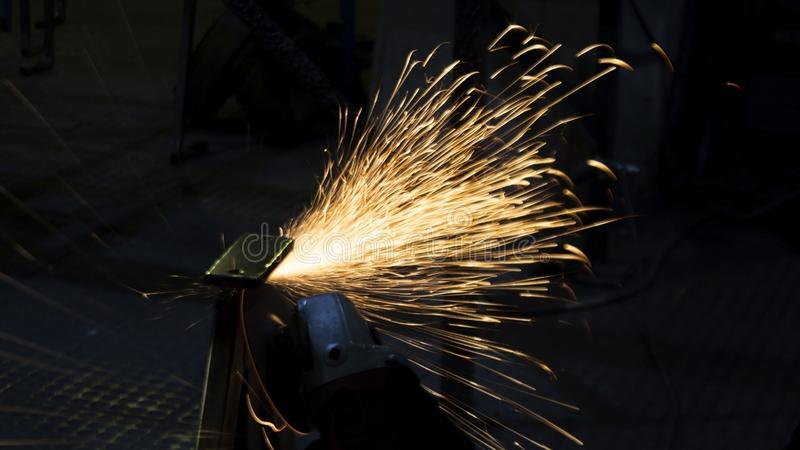 Enterprise processing metal. Processing of metal products and metal structures at the factory, factory, enterprise and organizatio stock photography
