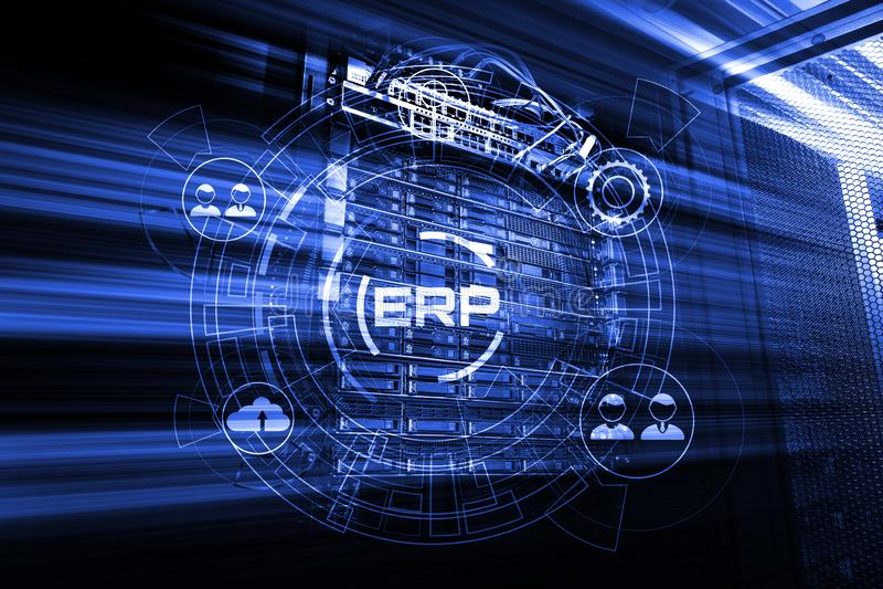 Enterprise Resource Planning ERP system management, motion 3d render stock photos