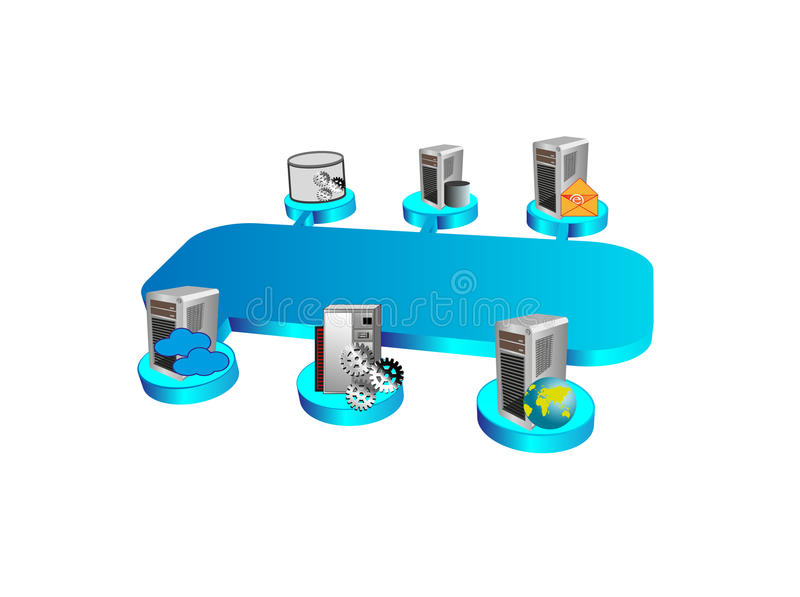 Enterprise Service Bus and Legacy system royalty free stock images
