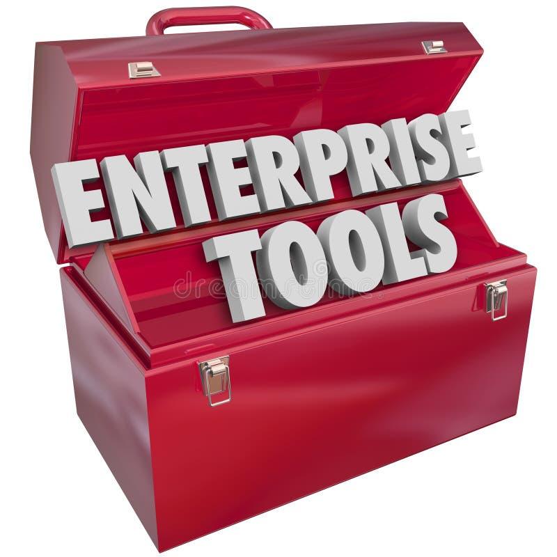 Enterprise Tools Red Metal Toolbox Company商业软件App 向量例证