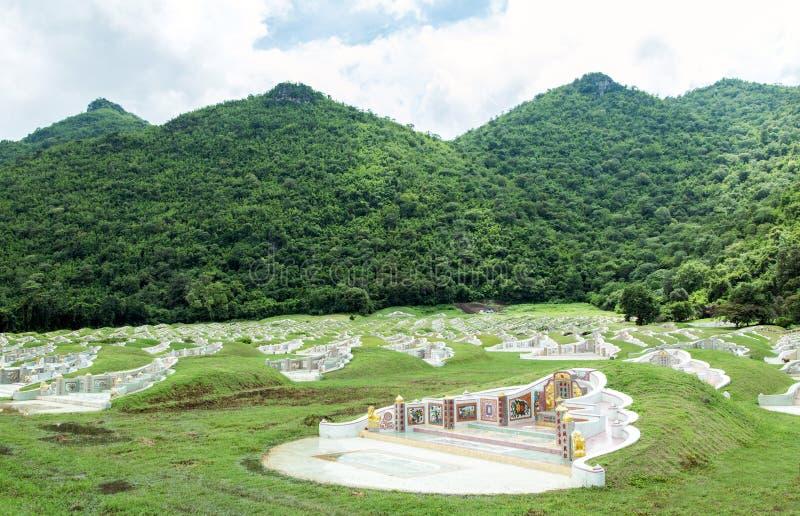 Enterrement chinois de Beautyful sur la montagne verte image libre de droits