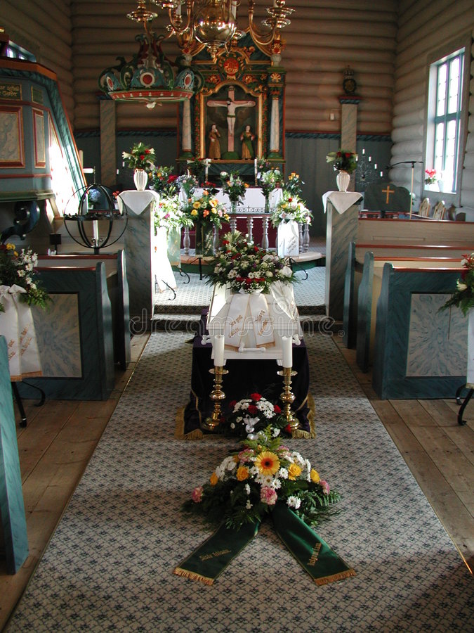 Enterrement d'église images libres de droits