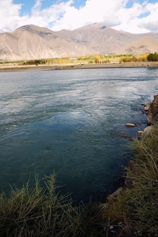 Enterro da água de Tibet imagem de stock