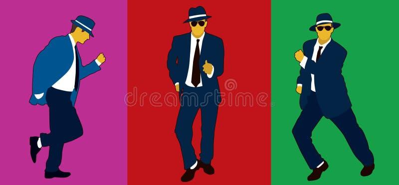 Entertainer. Male entertainer doing dance moves royalty free illustration