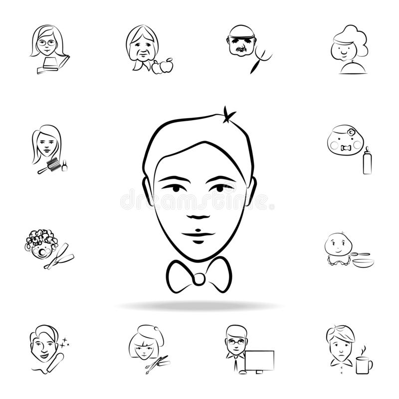 Entertainer avatar sketch style icon. Detailed set of profession in sketch style icons. Premium graphic design. One of the. Collection icons for websites, web royalty free illustration