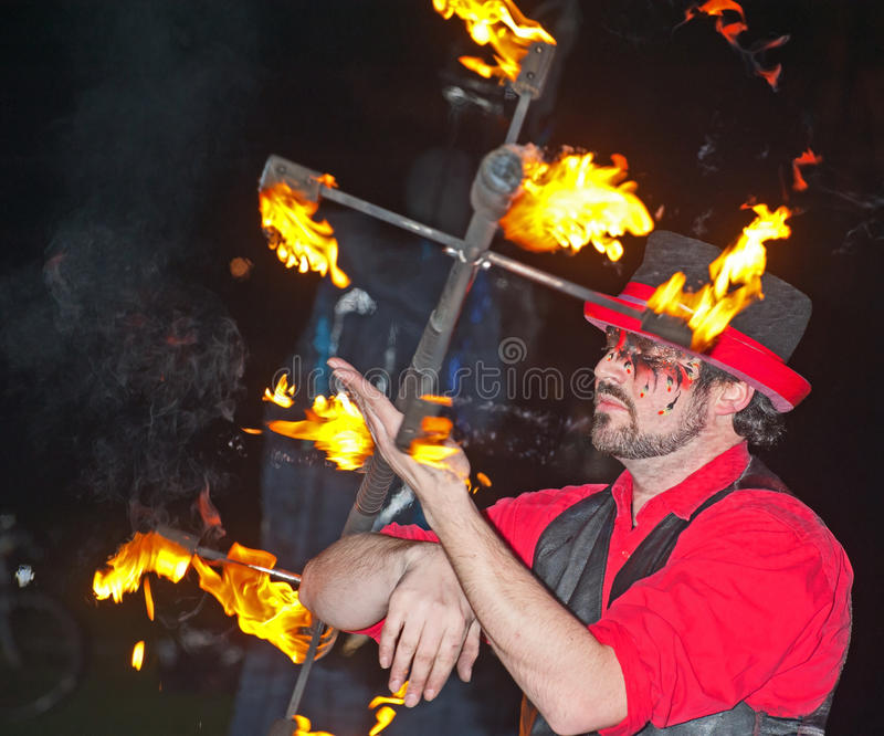 Download Entertainer at Hogmanay. editorial image. Image of painted - 22663440