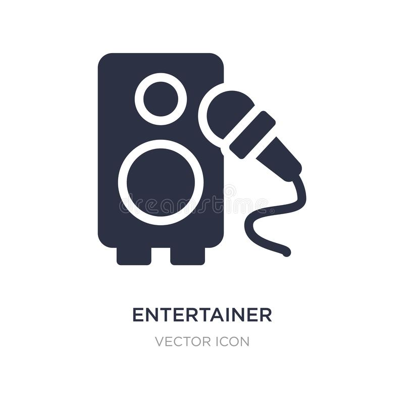 Entertainer icon on white background. Simple element illustration from Technology concept. Entertainer sign icon symbol design vector illustration