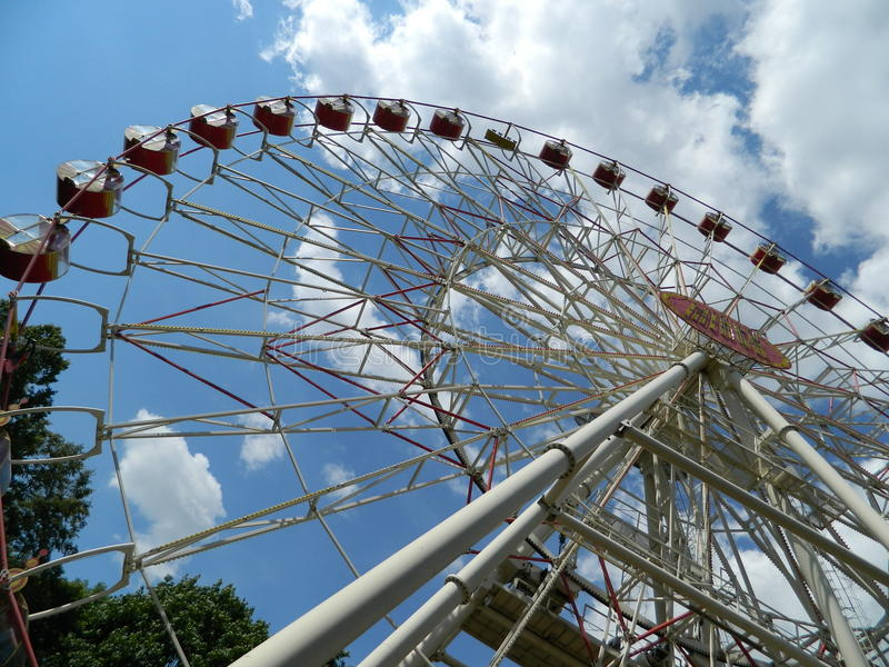 Entertainment attraction Park construction design Ferris wheel safety leisure royalty free stock images