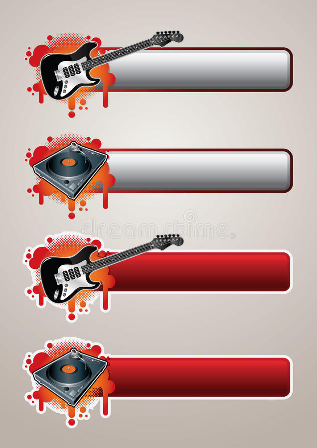 Free Entertainment Banner Set 1 Stock Images - 9432054