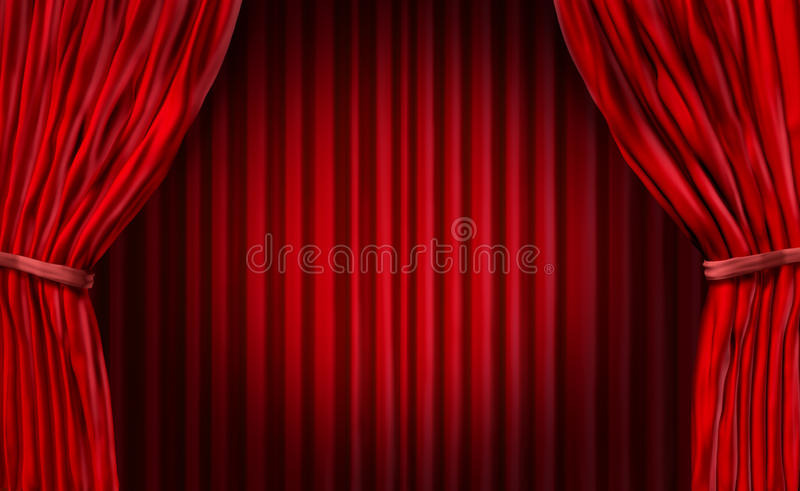 Entertainment Curtains Stock Illustration