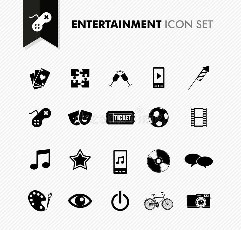 Entertainment fresh icon set. royalty free illustration