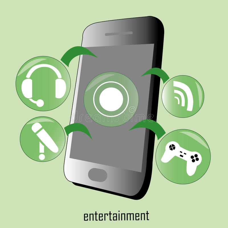 Entertainment functions vector illustration